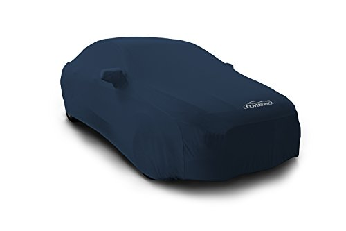 Coverking Custom Fit Car Cover for Select BMW 5 Series Models - Satin Stretch (Dark Blue)