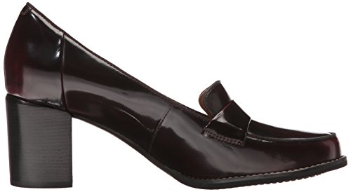 Clarks Womens Tarah Grace Penny Loafer Bordeaux Glanzend Leer
