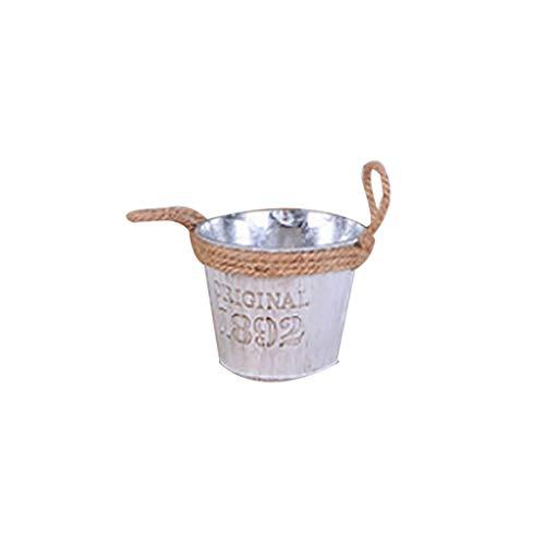 UMFun Metal Iron Keg Flower Pot Hanging Balcony