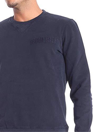 Woolrich Homme XL Shirt Sweat Bleu WOFEL1142 wBrtzqw