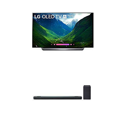 LG Electronics OLED65C8PUA 65-Inch 4K Ultra HD Smart OLED TV (2018 Model) Bundle with LG SK9Y 5.1.2 ch High Res Audio Sound Bar with Dolby Atmos (2018)