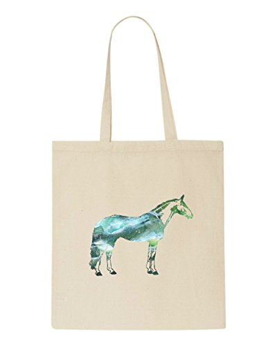 Horse Tote Silhouette Beige Animal Space Nebula Cosmic Bag Shopper qwTc7IOtP6