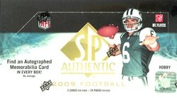2009 Upper Deck UD SP Authentic NFL Football Sports Trading Cards Hobby Box (2009 Nfl Trading Cards)