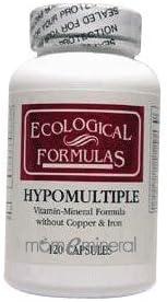 Ecological Formulas - Hypomultiple without Cu/Iron 120 caps