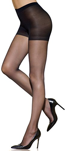 - Silkies Women's Ultra Control Top Pantyhose -Xqueen Jet Black
