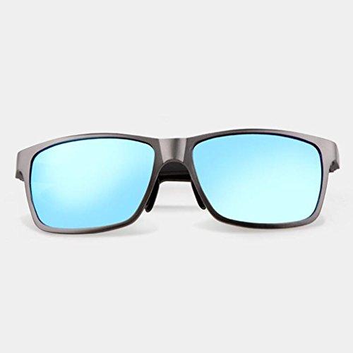 de de soleil lunettes soleil air lunettes soleil soleil de hommes UV400 soleil sports lunettes Hiker plein Pe UV soleil nouvelles lunettes protection de protection de pare lunettes Blue Frame; A cadeaux conduite Color Gun de XqY7wR5