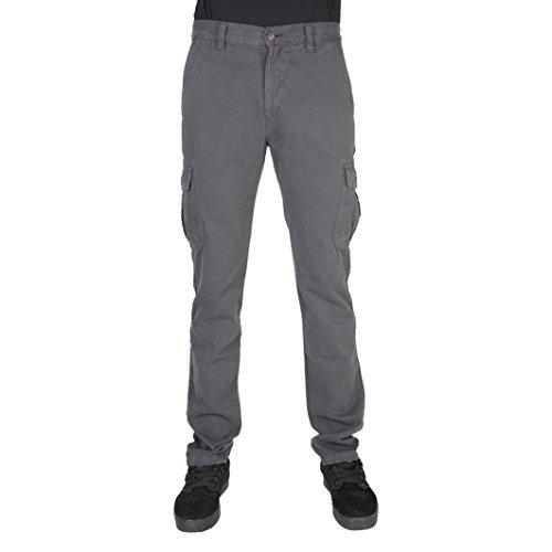 619 Regular Uomo Pantalone Tasconi Cargo Cotone Nero Art Carrera Invernale 861wq