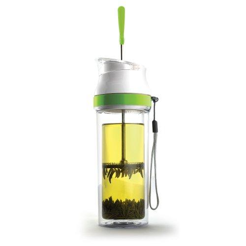 Asobu The Modern Tea and French Coffee Press Mug, Lime