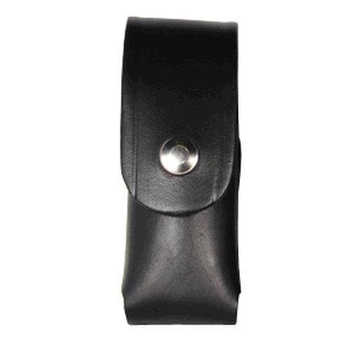 Boston Leather Mace Case. 2 Oz Flap.snap Plain - 5527-1-N (Mace Spray Pouch Plain)