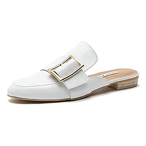 71d7e3eca64a hot sale KAREN WHITE Maison kw0285 Women s Comforable Backless Loafer Flats  Shoes