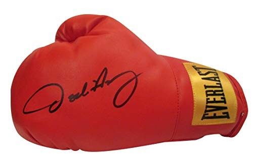 Oscar De La Hoya Autographed Hand Signed Everlast Left Handed Boxing Glove with Proof Photo of Signing and COA