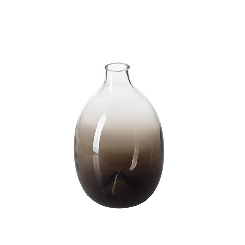 CASAMOTION Vases Hand Blown Art Glass Vase, Contemporary Stytle Centerpiece Vases for Table, Décor Gift Idea, Mixed (Brown Ombre)