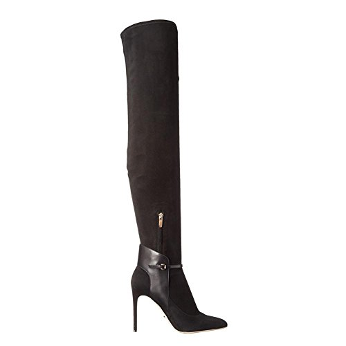 amp; Office Black amp; Boots Heels Casual Fashion High Evening Comfort Party Career Knee YC Women's Winter Toe L Boots qwZU7PFZ