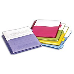 Office Depot Expanding Index Dividers, 5 Tabs, Assorted, Pack Of 5, 84012CB
