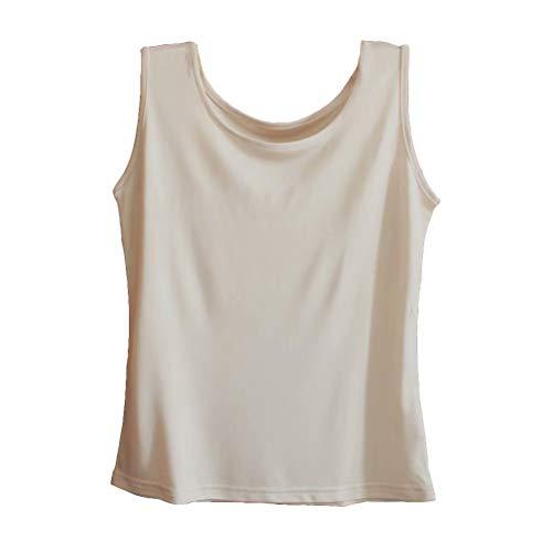 Zylioo Womens 100% Mulberry Silk Camisoles Cap Sleeve Layering Tee Scoop Neckline Comfy Sleeveless Tank Top