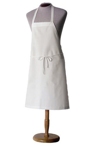 1 PLAIN WHITE BIB APRON BLANK NO POCKETAPRON CHEFS APPERAL COMMERCIAL CLOTHING Color Aprons Blank
