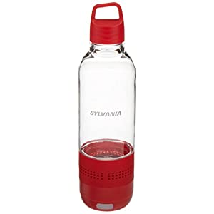 Sylvania SP650-RED 2 In 1 Water Bottle Bluetooth Speaker