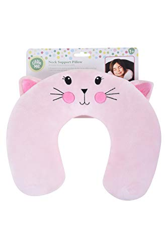 Little Me Neck Support Travel Pillow, Kitty, Child Baby Toddler Stroller car ()
