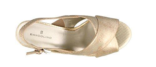 Bandolino Womens Mopina Guld Sandal