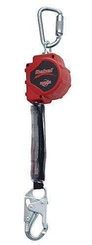 Protecta Rebel 3100425 Srl 3.3M Web 2000112 2000161 Steel Snap Hook & Carabiner, 11', Black/Red Style: Steel Snap Hook And Carabiner, Model: 3100425, Outdoor & Hardware - Style Carabiner Hook