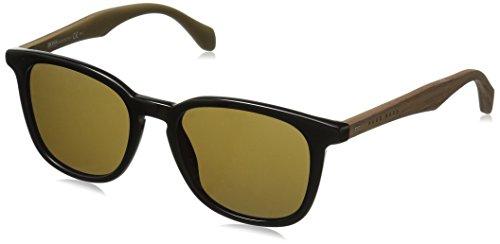 BOSS by Hugo Boss Men's B0843s Square Sunglasses, Black Brown/Brown, 52 - Hugo Boss Glasses
