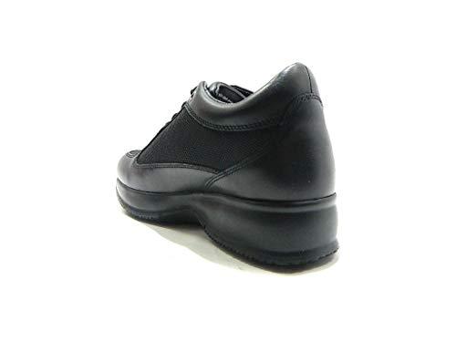 per Donna Lumberjack Interna Raul Zeppa Tessuto Pelle e Nero Black con in Sneakers ppqE4F