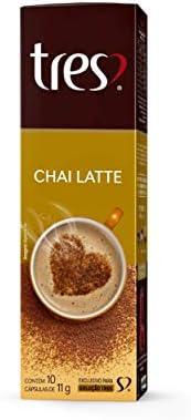 Cápsula de Bebida Cremosa, Chai Latte, 10 Unidades, Tres, 3 Corações