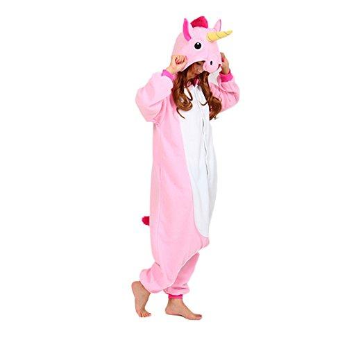 Esy Hoodie Pajamas Hoodie Cosplay Onesie Pink Unicorn M