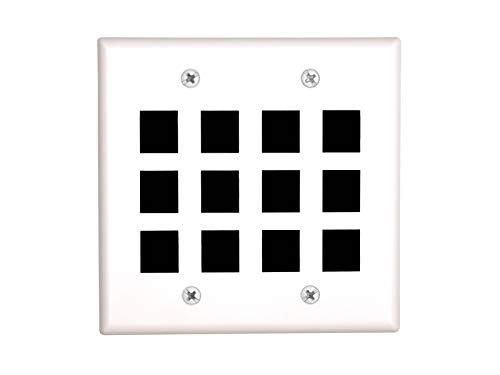 Networx 12 Port Keystone Faceplate - Dual Gang - White - Hdmi Dual Plate Wall Tm