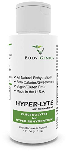HYPER-LYTE with Concentrace for Hyper Electrolyte Rehydration with Magnesium, Potassium, Sodium, Chloride (No Calories, Sugar or Additives), 48 Servings