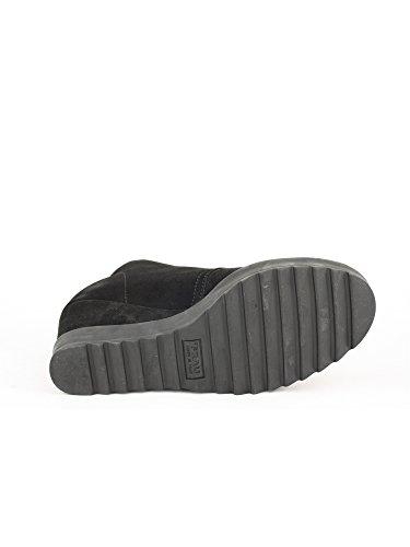 FRAU Noir à DONNA femme ville Chaussures lacets pour Nero de rR7rOSBqnw