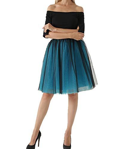 Women 5 Layers Tulle Maxi Skirt Elastic Waist Bridesmaid Wedding Party Dress US