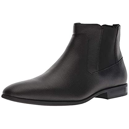 Calvin Klein Men's Christoff Epi Leather Chelsea Boot, Medium 1