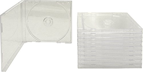 10 Standard Empty Clear Replacement CD Jewel Boxes with Clear Inner Trays (Assembled) #CDBSIS