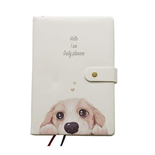 GuaziV Monthly Weekly Daily Productivity Planner 2019 Happiness Gratitude Calendar Journal Planner Daily Business Work Planner (Dog) (Best Planner Pens 2019)