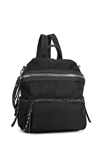 Tendenza Nero Scuola Regalo Bag Moda Sporty Tracolla Bolsos Tote Donna Borchiati A Elegante Di Idea Frange Zainetto Angkorly Flessibile Chic 1w6xUH1