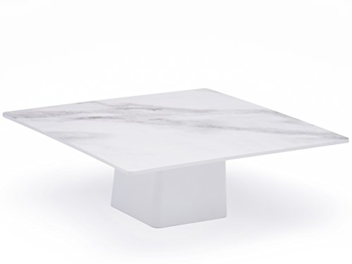 Sugar & Cloth Marble Melamine Modern Square Cake Stand (Games Plastic For Marbles)