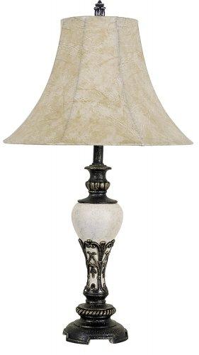 (ORE International 8032B 30-Inch Home Decor Table Lamp, Ivory)