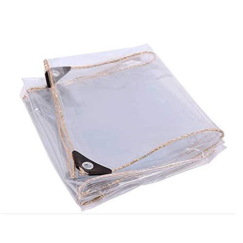 Doorzichtig glaszeil Waterdicht, regendicht zeildoek Heavy-duty transparant PVC-plastic zeildoek met oogjes…