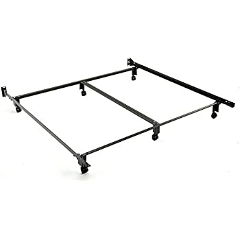 this item inst a matic premium 777r bed frame with headboard brackets and 6 2 inch locking rug roller legs black finish king - Instamatic Bed Frame
