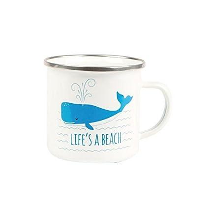 Hunky Dory Lifes un café Taza de té Whale Beach Esmalte Taza Barbacoa Acampada de la
