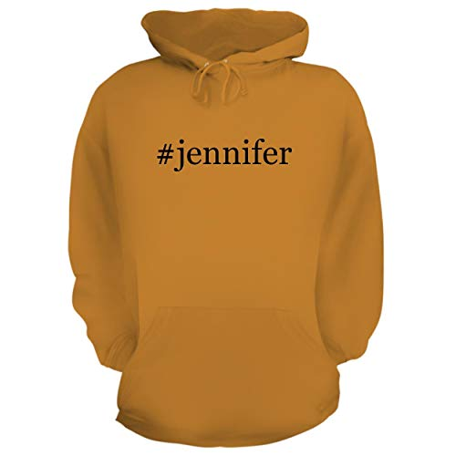 - #Jennifer - Graphic Hoodie Sweatshirt, Gold, Medium