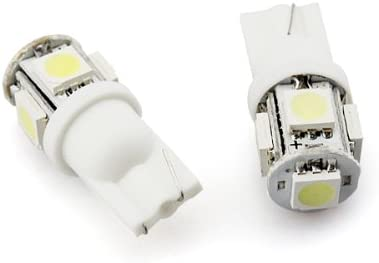 2pcs Xenon White T10 Wedge 5-SMD 5050 LED Light bulbs 192 168 194 W5W 282 5 158 Ship from USA