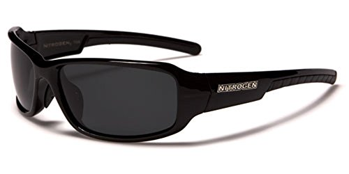 Driving Fishing Polarized Wrap Around Sports Sunglasses - Black