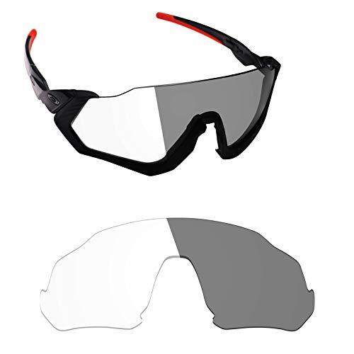 (Alphax Adapt Grey Photochromic Replacement Lenses for Oakley Flight Jacket)