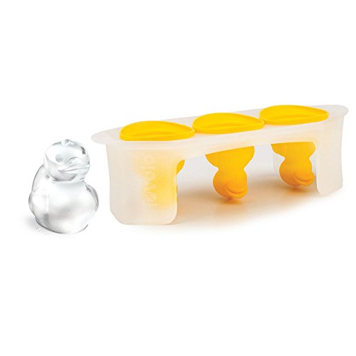Tovolo Rubber Ducky Ice Molds, Flexible Silicone, Tray Handles, Set of 3