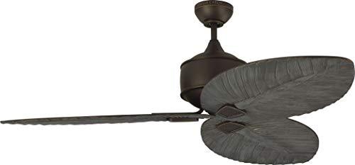 Monte Carlo 3DLR56RB Protruding Mount, 3 Dark Walnut Blades Ceiling fan, Roman Bronze