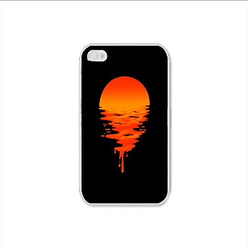 Orange Sunset iPhone 4 Case, Orange Sunset iPhone 4s Case Shipp From US