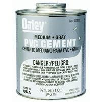 Oatey 30886 PVC Medium Cement, 32-Ounce, Gray ()