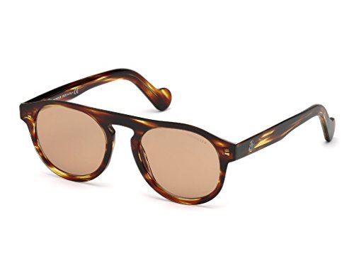BROWN unisex BROWN Sol de Moncler Gafas ML0073 LIGHT STRIPED 18Xq10x